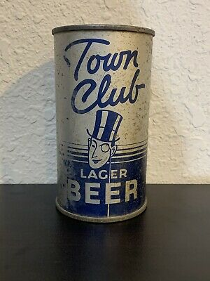 Town Club Lager Beer Flat Top Can