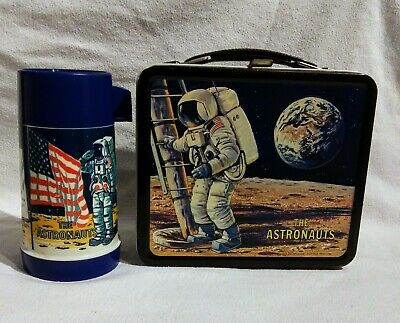 Astronaut Lunchbox 1969 WITH Thermos Metal Aladdin Collectible Space