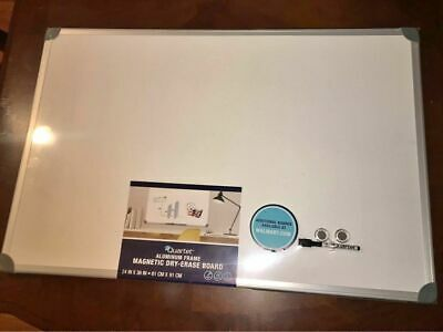 "Magnetic Dry Erase White Board  24""x 36"" Office School Supplies Aluminium Frame"