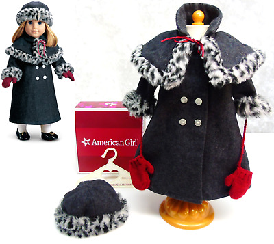 NEW American Girl Doll Clothes NELLIE'S HOLIDAY COAT Cape Hat Mittens Hanger BOX
