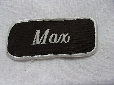 105 Choices Vintage 1960s Embroidered Name Patch Tag Uniform Shirt Apparel ID