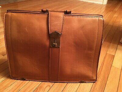 Doctor Bag Briefcase Leather Bag Vtg