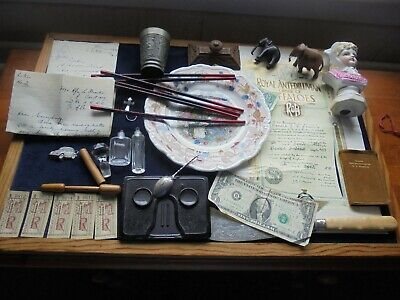 Job Lot Of Antique/Vintage Collectables With Silver     815 K
