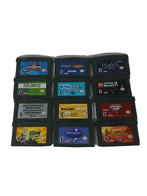 Gameboy Advance Game Lot Of 12 Various Games Star Wars Power Rangers More Tested