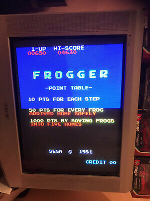 Frogger, + Adattatore Jamma Pcb  . Working ( Video ) Original Sega