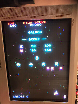 Galaga , Not Jamma Pcb + Adattatore Jamma , Original Sidam ( Video )