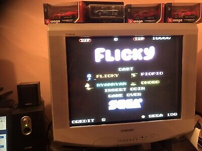 Fliky, Sega Original  + Adattatore Jamma Pcb  . Working ( Video )