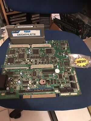 St-V Board + Games Decathlete , Jamma Pcb Original Sega ( Video )