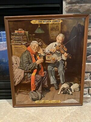 The Wilken Family Whiskey Cardboard Framed 1938 - Extremely Rare