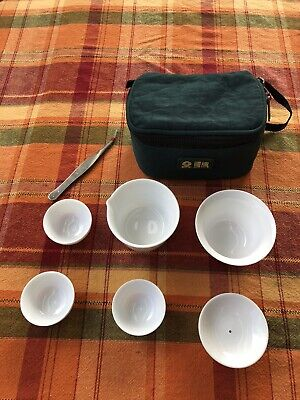 8× Travel Tea Sets Chinese Teaup Kung Fu 旅行茶具八件套功夫茶