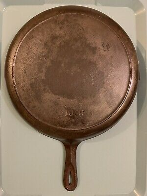 #10 Cast Iron Skillet Very Old With Heat Ring USA