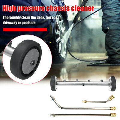 16 inch Pressure Washer Undercarriage Cleaner Water Broom with 3 Extension Wands