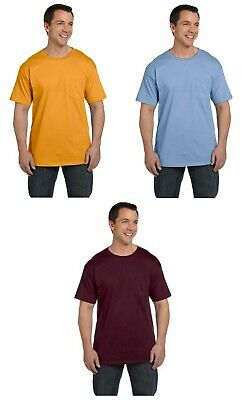 Hanes Premium Beefy Tee Tagless Tshirt with pocket 5190 Ringspun Cotton New