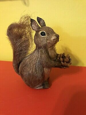 Squirrel Realistic Acrylic Double-Sided Purse Charm Dangle Zipper Pull Jewelry