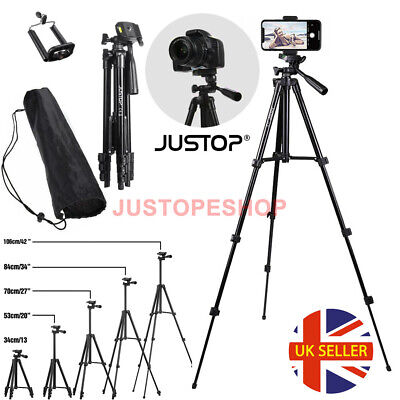 Universal Camera Phone Tripod Stand Telescopic Holder For iPhone Samsung Sony MM