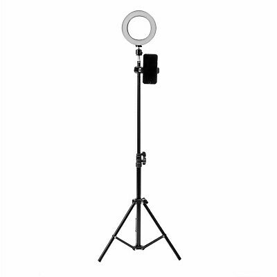 16cm LED Video Ring Light 5500K Dimmable with 160cm Adjustable Light Stand for