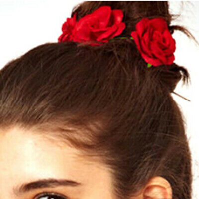 Rose Flower Elastics Hair Holder Rubber Bands Girls Women Hair Accessories FM