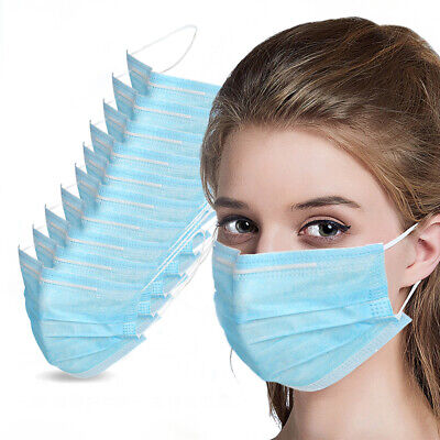 100 PC Face Mask Mouth & Nose Protector Respirator Masks with Filter CE Approved