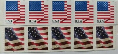 10 USPS Flag First Class Postage Forever Stamps, Stamp Design May Vary