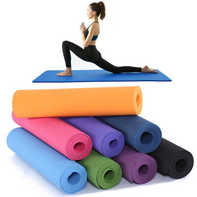Yoga Mat EXTRA THICK 6mm 183cm x 61cm Non Slip Exercise/Gym/Camping/Picnic