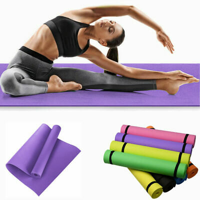 Yoga Mat EXTRA THICK 6mm 173cm x 60cm Non Slip Exercise/Gym/Camping/Picnic