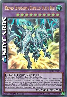 DRAGO ESPLOSIONE GEMELLO OCCHI BLU • Ultra R • LCKC IT058 • Yugioh! • ANDYCARDS