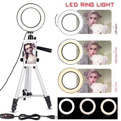 LED Ring Light with Stand Dimmable LED Lighting Kit Makeup Live for Phone Camera