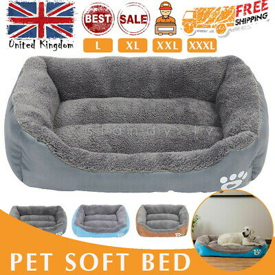 Dog Beds Pet Cushion House Waterproof Soft Warm Kennel Blanket Small-Extra Large