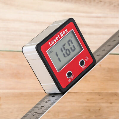 Magnet Digital Gauge Level Angle Finder Protractor Meter Bevel Box Inclinometer