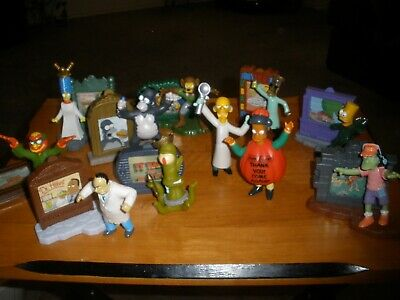 2002 Burger King SIMPSONS Treehouse Of Horror Halloween Toys Partial Set of 11