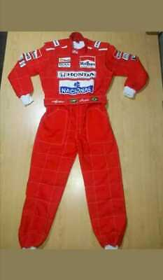 Ayrton Senna Sublimation Printed go kart race suit,In all size