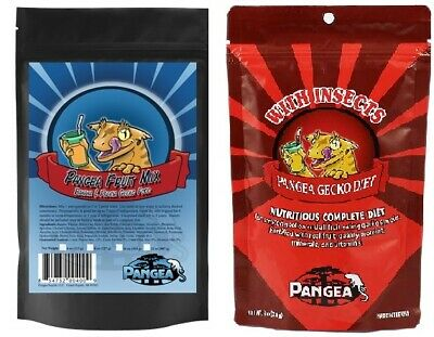 Pangea Fruit Mix 2oz Banana Papaya 2oz w/Insects Complete NEW Gecko Food