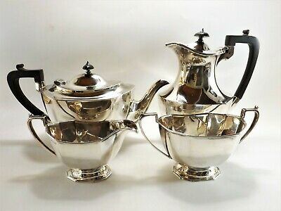 Four Piece Antique Silver Tea Set Hallmarked Sheffield 1933 Ref 190