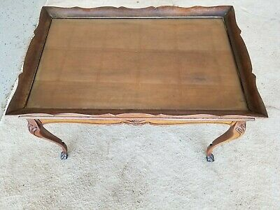 old glass end table