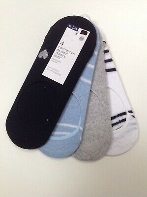 MARKS AND SPENCER Womens Cotton Rich Trainer Socks 4 Pairs