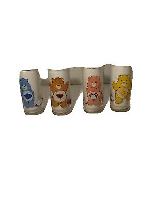 Pizza Hut Care Bears 1983 Vintage Glasses Limited Edition Set Of 4