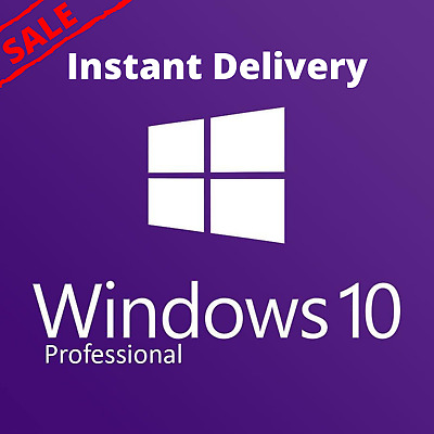 Windows 10 Pro 32/64 bit License key online activation INSTANT DELIVERY