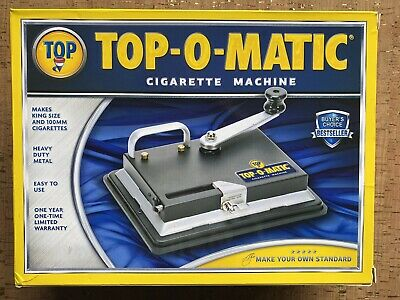 Top-O-Matic Cigarette Rolling Tobacco Machine GREAT CONDITION! Fast Shipping!!