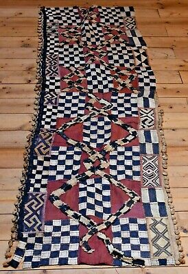 Long Antique Kuba Cloth Raffia Textile Traditional African Tribal Money, Congo