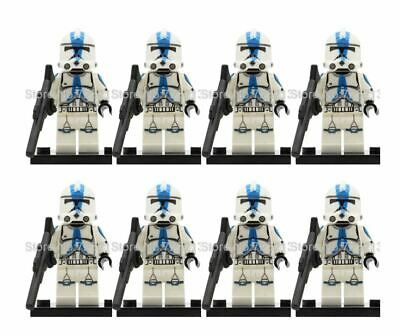 Clone Army Lego Compatible Star Wars Minifigure Clone Troopers Droid 501St Qty 8