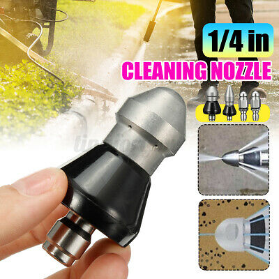 1/4''Sewer Cleaning Jetting Nozzle Rotary Spinning Drain Sewer Stainless Steel