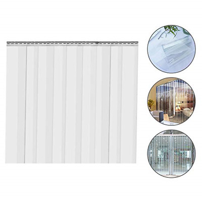 EZYOU 9PCS Plastic Curtain Strips 82.6 Inch Height x 6 Inch Width Strip Door for