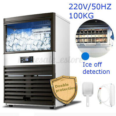 Automatic Commercial Ice Cube Maker Machine Stainless Steel 220V/50HZ 600W 100KG