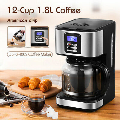 1.8L Stainless Steel Semi-Automatic Coffee Maker Machine Home Commercial 220V