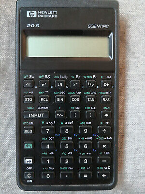 HP 1987 Hewlett-Packard HP-20S Scientific Calculator & Estuche