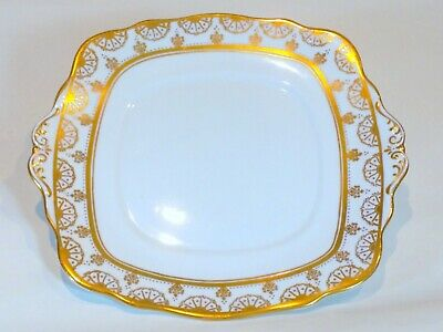 Cake/Serving Plate White Gold English Vintage Afternoon Tea China
