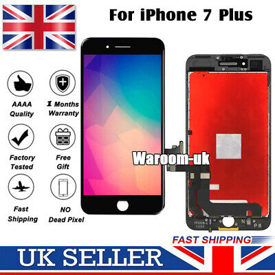 Black For iPhone 7 Plus Screen Replacement Retina LCD Touch Digitizer Display
