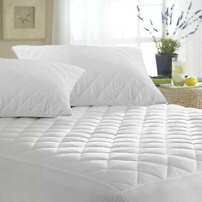 30CM EXTRA DEEP THICK Cotton QUILTED MATTRESS PROTECTOR FITTED SHEET KING BED