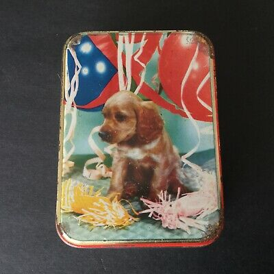 Vintage Dog Tin Edward Sharp and Sons With Balloons & Streamers