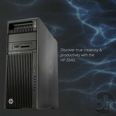HP Z640 Powerful Workstation: 2x Xeon 12-Core/3.50GHz, 128GB DDR4, SSD & Win 10